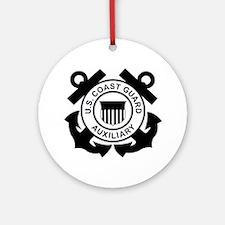 USCGAux-Logo-Black.gif Round Ornament