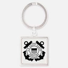 USCGAux-Logo-Black.gif Square Keychain