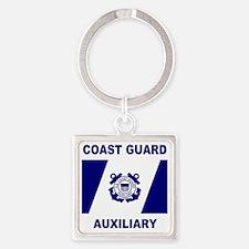 USCGAux-Flag-Shirt-1.gif Square Keychain