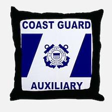 USCGAux-Flag-Shirt-1.gif Throw Pillow