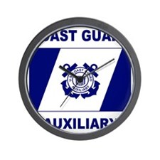 USCGAux-Flag-Shirt-2.gif Wall Clock