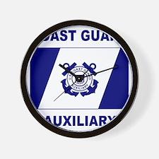 USCGAux-Flag-Shirt-2.gif Wall Clock