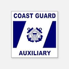 "USCGAux-Flag-Shirt-1.gif Square Sticker 3"" x 3"""