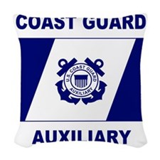 USCGAux-Flag-Shirt-2.gif Woven Throw Pillow