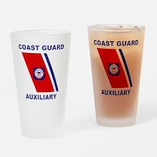 USCGAux-Racing-Stripe-Shirt.gif Drinking Glass