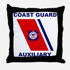 USCGAux-Racing-Stripe-Shirt.gif Throw Pillow