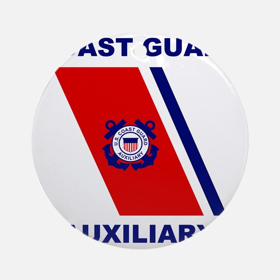 USCGAux-Racing-Stripe-Shirt.gif Round Ornament