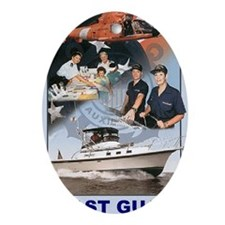 USCGAux-Magnet.gif Oval Ornament