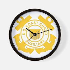 USCGAux-Black-Shirt Wall Clock