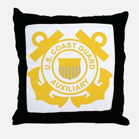 USCGAux-Black-Shirt Throw Pillow