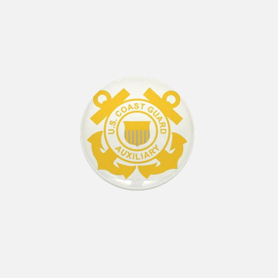 USCGAux-Black-Shirt Mini Button