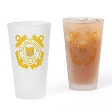 USCGAux-Black-Shirt Drinking Glass