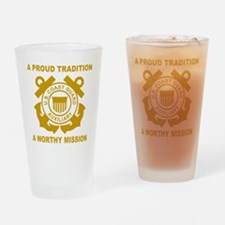 USCGAux-Black-Shirt-3 Drinking Glass