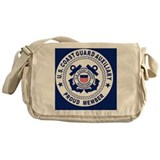 Coast guard auxiliary Canvas Messenger Bags