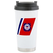 USCGAux-Racing-Stripe-Black-Cap Travel Mug