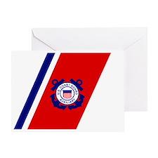 USCGAux-Racing-Stripe-Sticker-2.gif Greeting Card