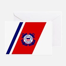 USCGAux-Racing-Stripe-Sticker-2.gif Greeting Card
