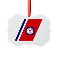 USCGAux-Racing-Stripe-Sticker-2.g Ornament