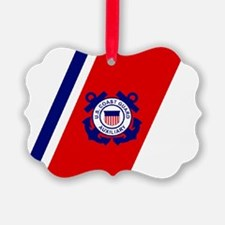 USCGAux-Racing-Stripe-Sticker-2.g Ornament