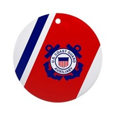 USCGAux-Racing-Stripe-Mousepad.gif Round Ornament