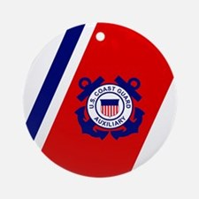 USCGAux-Racing-Stripe-Mousepad.gif Round Ornament