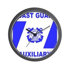 USCGAux-Black-Shirt-6 Wall Clock