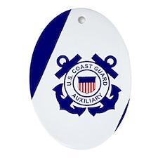 USCGAux-Flag-Journal.gif Oval Ornament