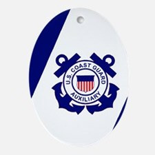 USCGAux-Flag-Journal.gif Oval Ornament