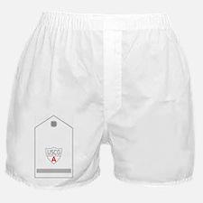 USCGAux-Rank-FSO-Black-Shirt Boxer Shorts