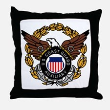 USCGAux-Eagle-Colored.gif Throw Pillow