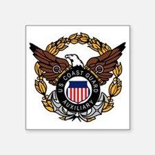 "USCGAux-Eagle-Colored.gif Square Sticker 3"" x 3"""