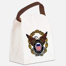 USCGAux-Eagle-Colored.gif Canvas Lunch Bag
