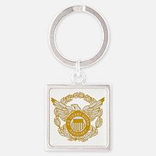 USCGAux-Eagle-Silver.gif Square Keychain