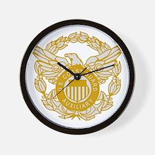 USCGAux-Eagle-Silver.gif Wall Clock