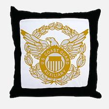 USCGAux-Eagle-Silver.gif Throw Pillow