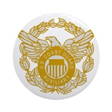 USCGAux-Eagle-Silver.gif Round Ornament