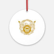 USCGAux-Eagle-Gold.gif Round Ornament