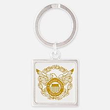 USCGAux-Eagle-Gold.gif Square Keychain