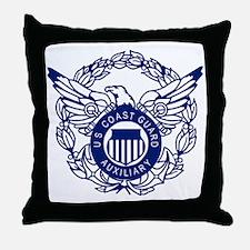 USCGAux-Eagle-Blue-X.gif Throw Pillow