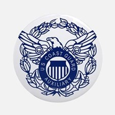USCGAux-Eagle-Blue-X.gif Round Ornament