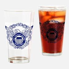 USCGAux-Eagle-Blue-X.gif Drinking Glass