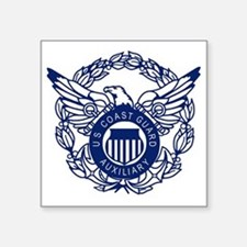 "USCGAux-Eagle-Blue-X.gif Square Sticker 3"" x 3"""