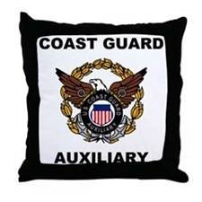 USCGAux-Eagle-Shirt.gif Throw Pillow