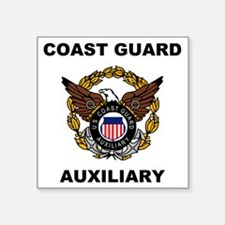 "USCGAux-Eagle-Shirt.gif Square Sticker 3"" x 3"""