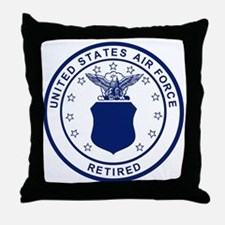 USAF-Retired-Blue-Bonnie.gif Throw Pillow