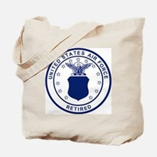 USAF-Retired-Blue-Bonnie.gif Tote Bag