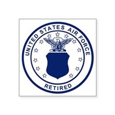 "USAF-Retired-Blue-Bonnie.gi Square Sticker 3"" x 3"""