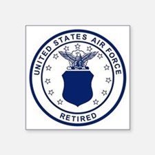 "USAF-Retired-Blue-Bonnie.gi Square Sticker 3"" x 3"""