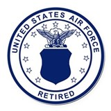 Air force veteran Round Car Magnets