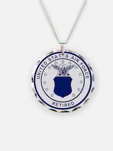 USAF-Retired-Blue-Bonnie.gif Necklace Circle Charm
